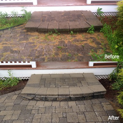 Hardscape Cleaning and Sealing Before and After