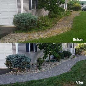 Paver Walkway Cleaning and Sealing Before and After