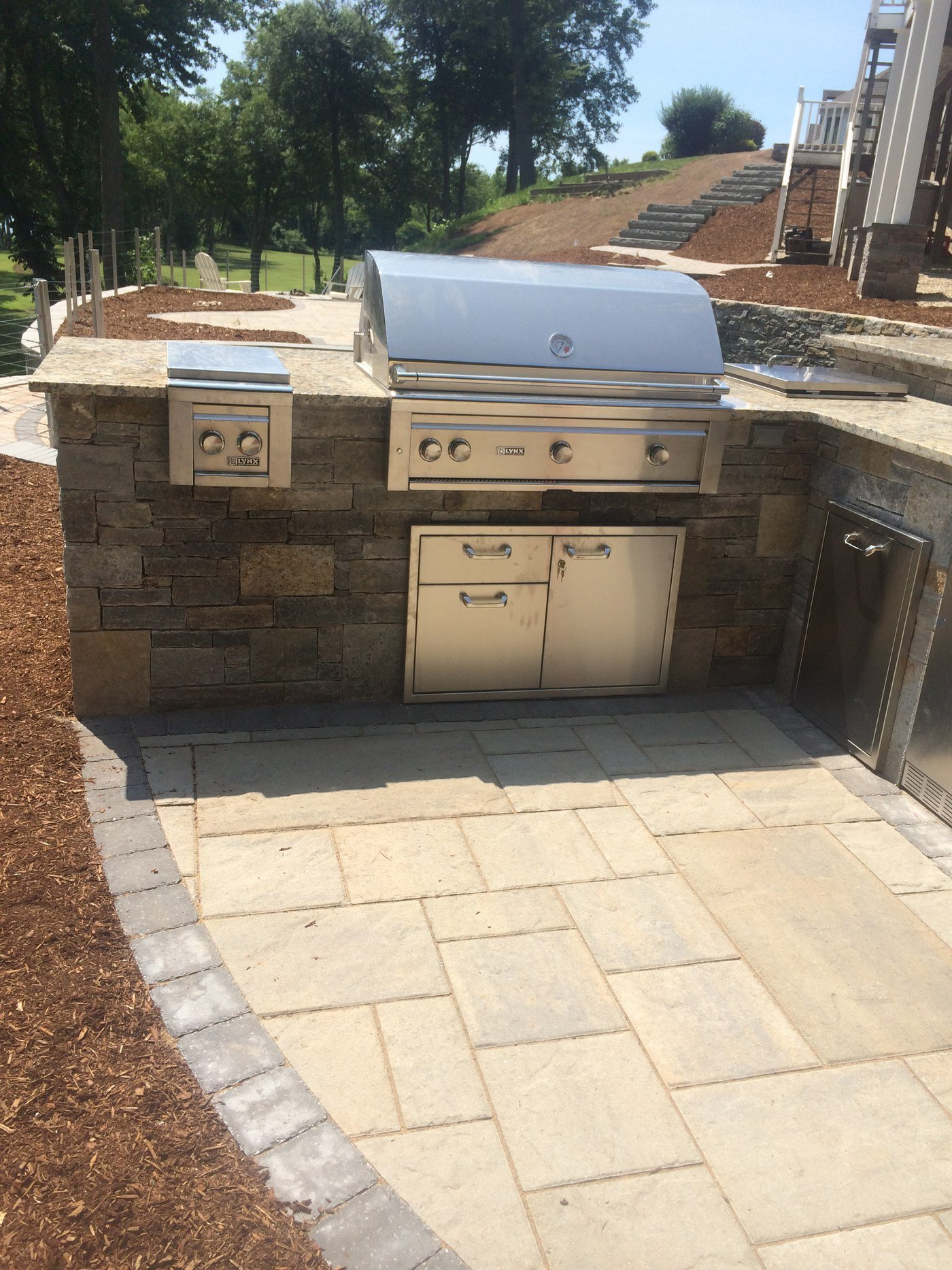Built in outdoor kitchens in connecticut for Stainless steel outdoor kitchen