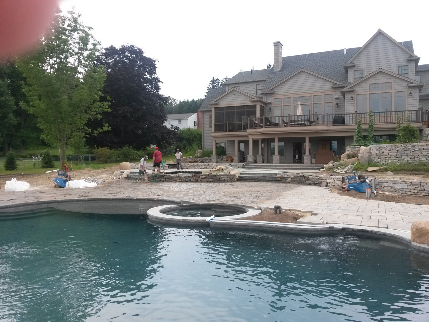 Natural stone retaining walls by Bahler Brothers in Wilbraham, MA