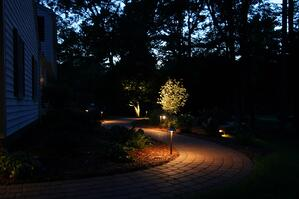 Low Voltage Landscape Lighting at night
