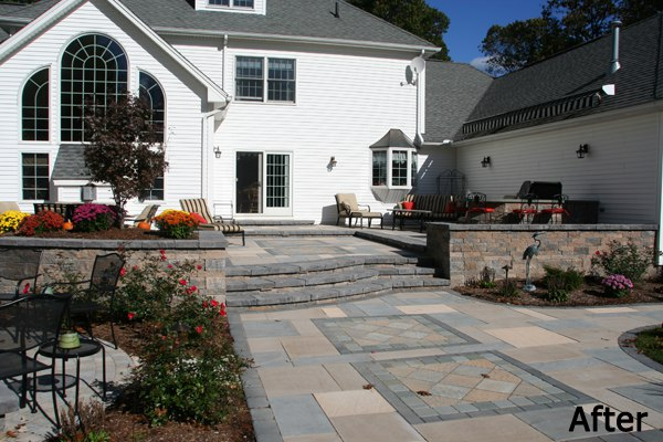 After photo of multi level patio