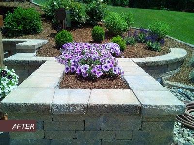Paver raised Planting Bed