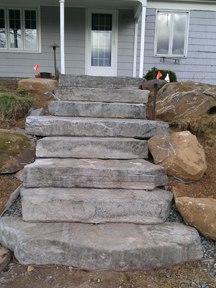 Rossetta steps built into hillside