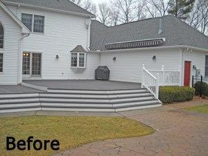 before photo of multi level patio - Multi Level Patio Designs