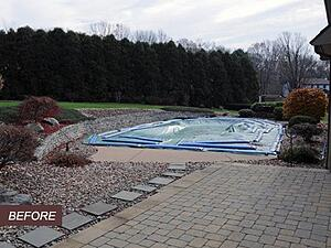 Before Backyard Transformation with Pool