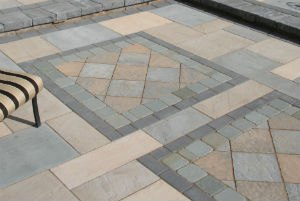 Paver Patio Inlay