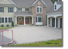 Paver driveway by Bahler Brothers in Glastonbury, CT