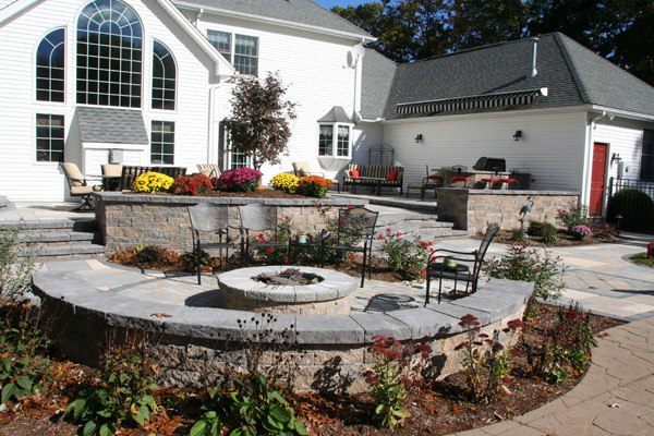 gallery of that good ole fire pit with raised patio ideas - Raised Patio Ideas