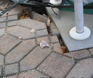 pavers along a fixed edge are disappearing