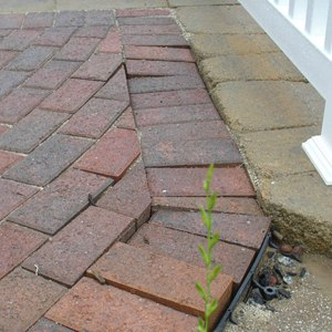 pavers not swept and compacted