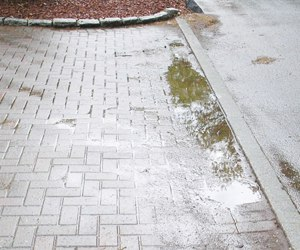 pavers puddling where they settled