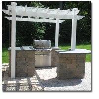 Pergola over outdoor kitchen