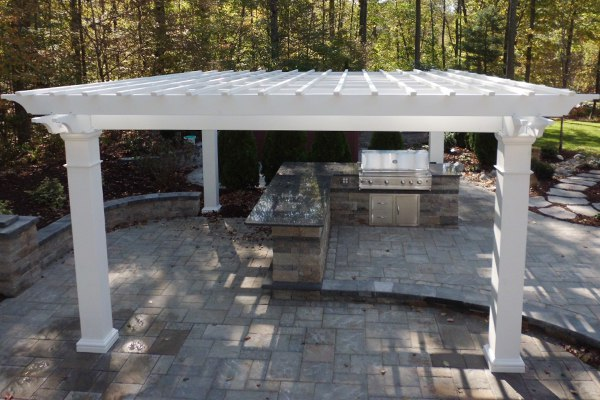 Pergola Covering an Outdoor Kitchen