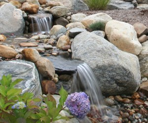 pondless water feature and stream