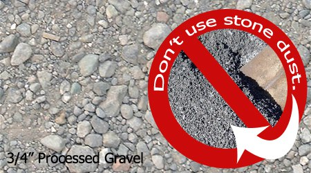processed gravel and stone dust