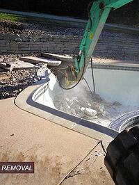 Removal of Gunnite Pool