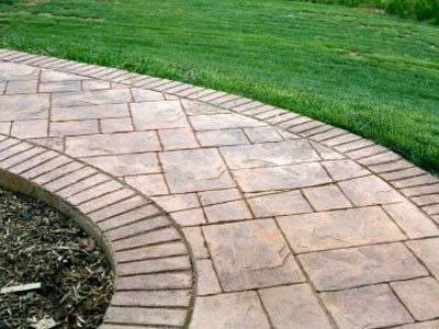 Sample Of Stamped Concrete Walkway Advantages