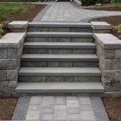 steps with bluestone treads