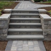 steps with bluestone treads