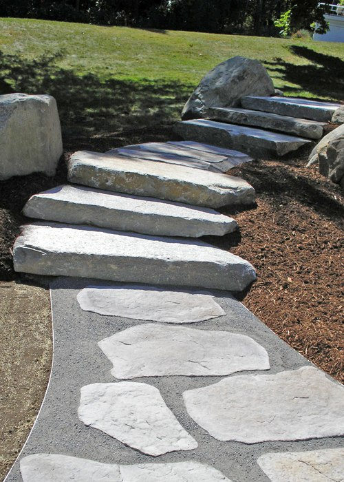 Stepping stone walkway with Rosetta Steps.