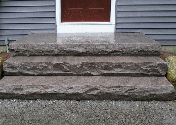 Large slabs for steps.