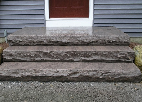 Large slabs for steps.