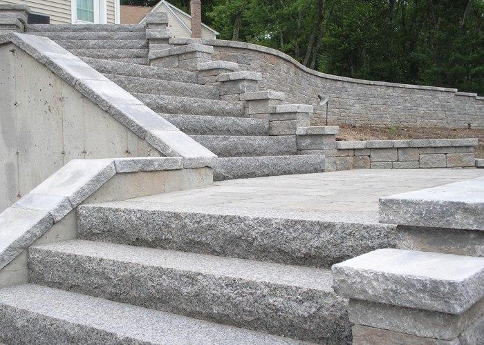 Granite steps.