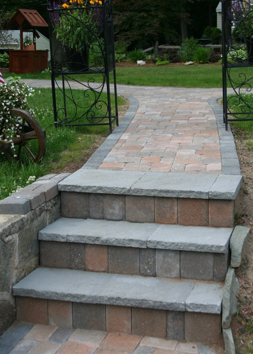 blue stone used as the step overlay.