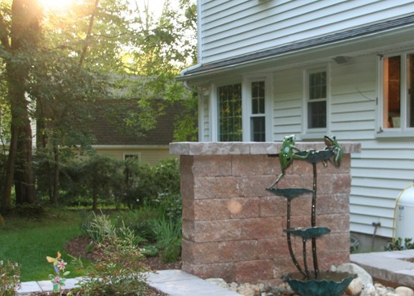 bronze lotus fountain in Granby, CT installed by Bahler Brothers
