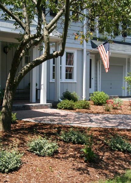 Front Walkway and Landscaping by Bahler Brothers in CT
