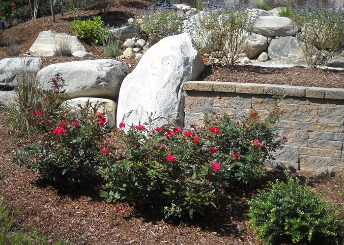 Retaining Walls and landscaping by Bahler Brothers in Ellington, CT