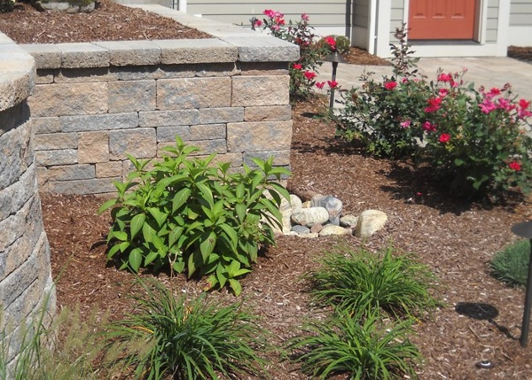 Retaining Walls and landscaping by Bahler Brothers in Ellington, C