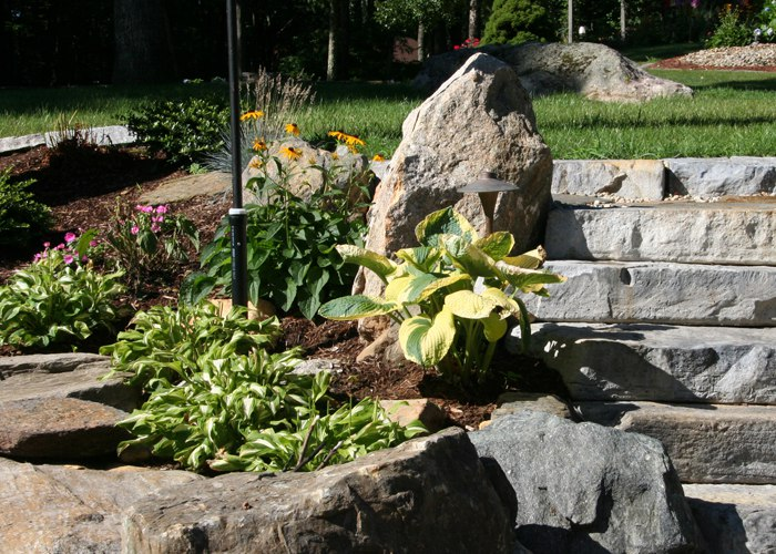 Stone Steps installed by Bahler Brothers in CT