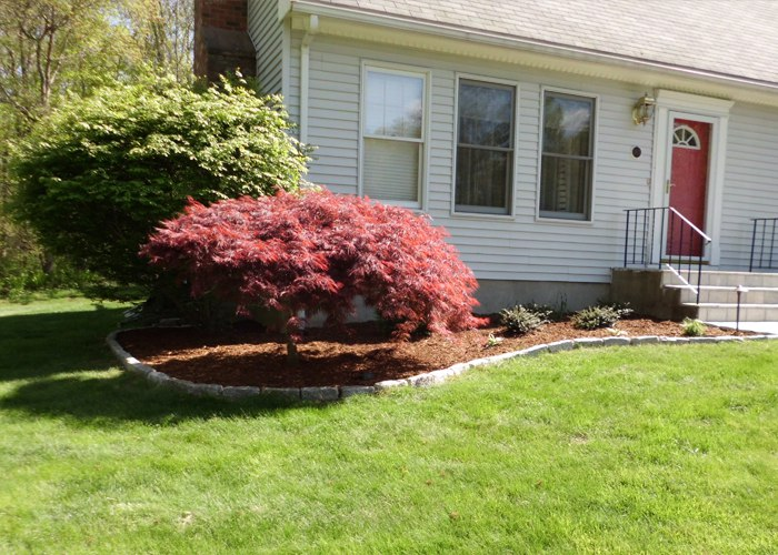 Traditional Front landscape makeover by Bahler Brothers in CT