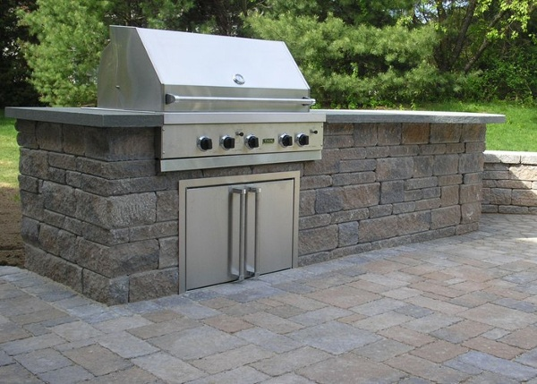 A fully built-in grill.