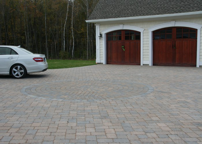 Paver driveway installation by Bahler Brothers in Somers, CT
