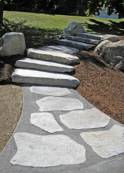 Stepping stones and steps installed by Bahler Brothers in Bloomfield, CT