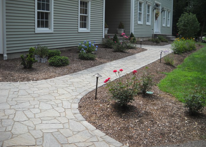 Paver walkway in Hebron, CT by Bahler Brothers