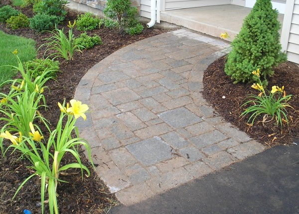 Paver walkway installation by Bahler Brothers in Connecticut