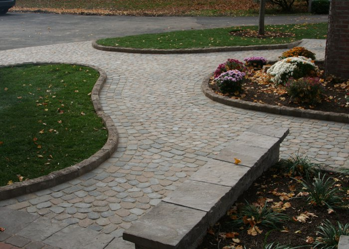 Paver walkway installation in Suffield, CT by Bahler Brothers
