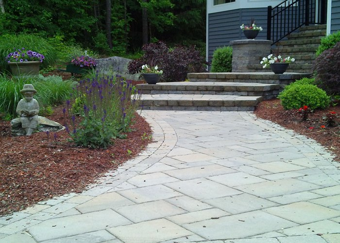 Walkway and step installation in Tolland, CT. by Bahler Brothers
