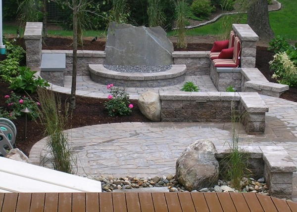 outdoor living rooms and paver patios in Connecticut by bahler brothers