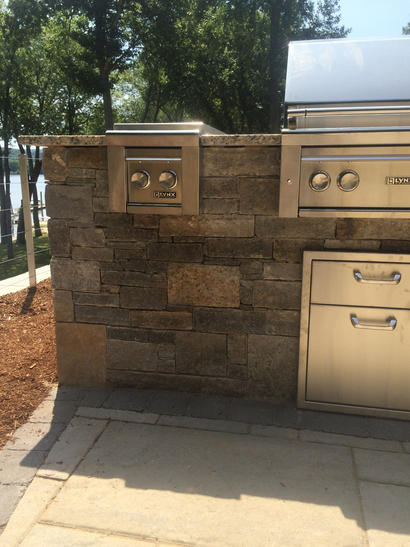 Natural Stone Outdoor Kitchen in Cromwell, CT designed by Bahler Brothers