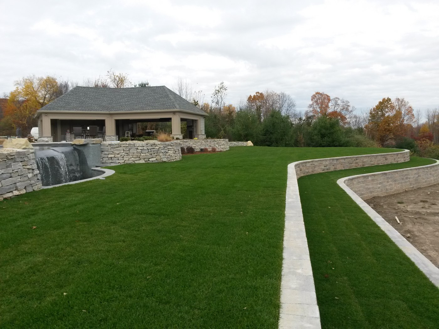Fieldstone Walls and Paver Block Walls by Bahler Brothers serving MA and CT