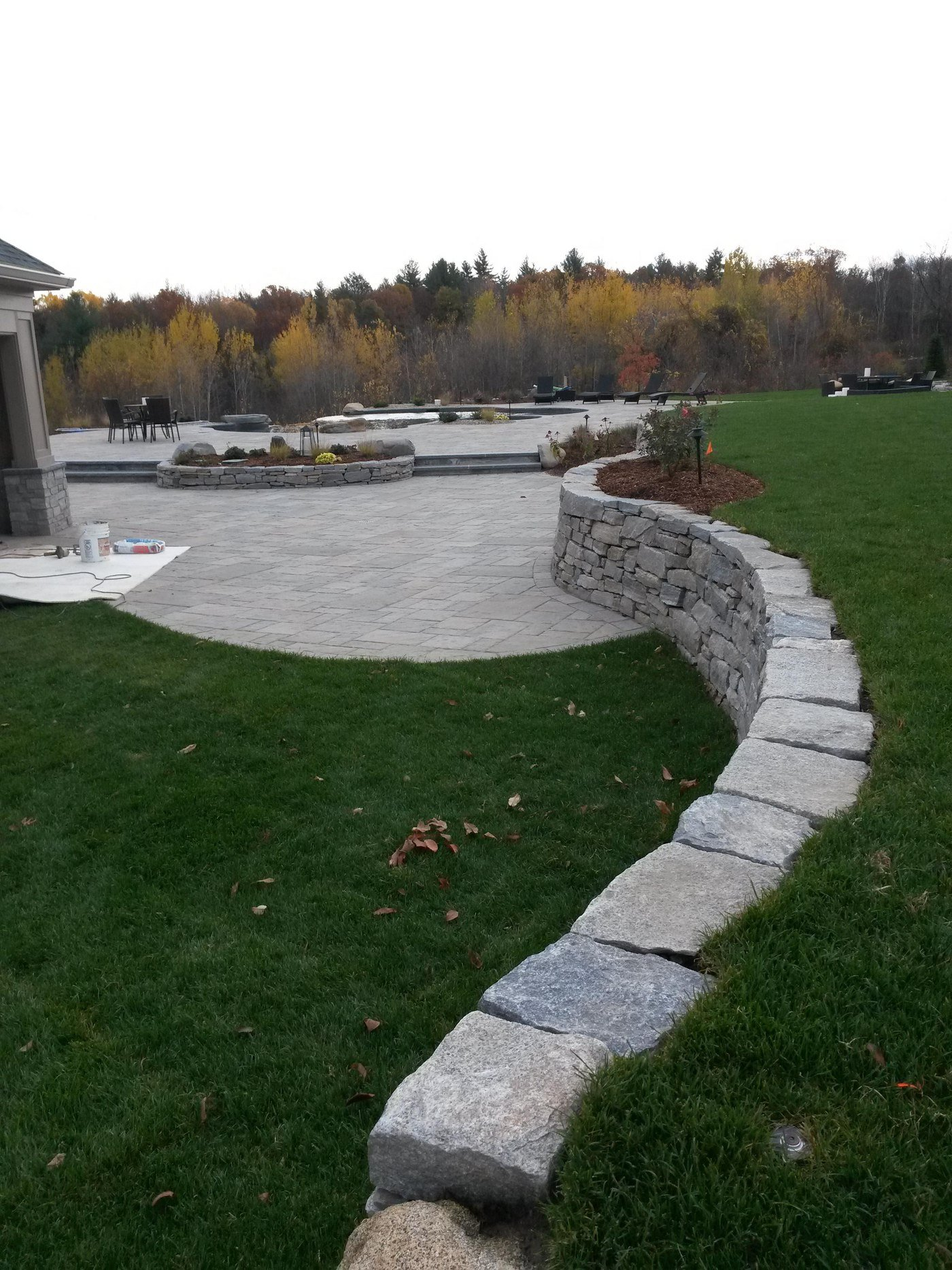 Fieldstone Wall by Bahler Brothers in Wilbraham, MA