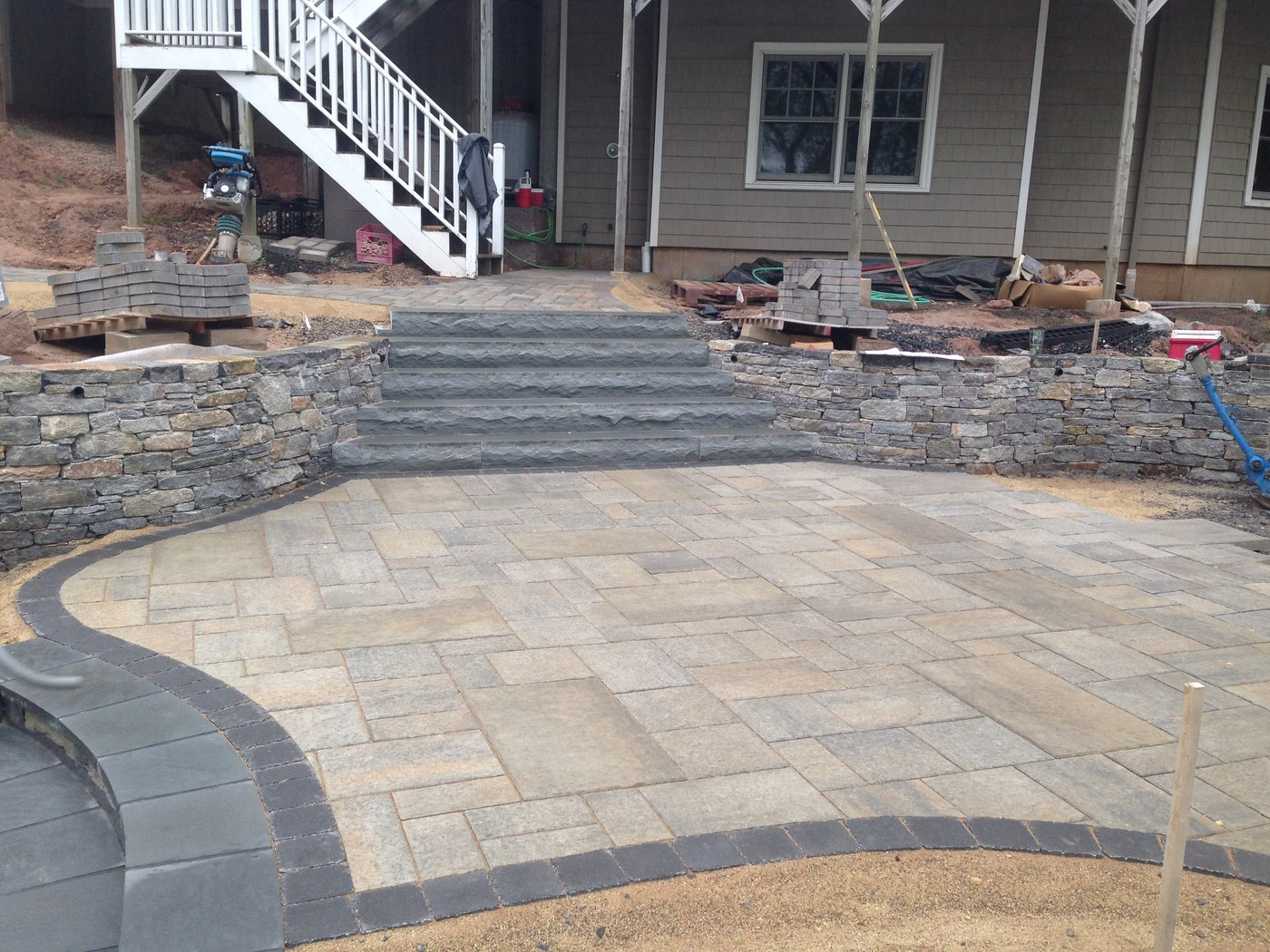 Natural Stone Walls and Steps designed by Bahler Brothers in CT