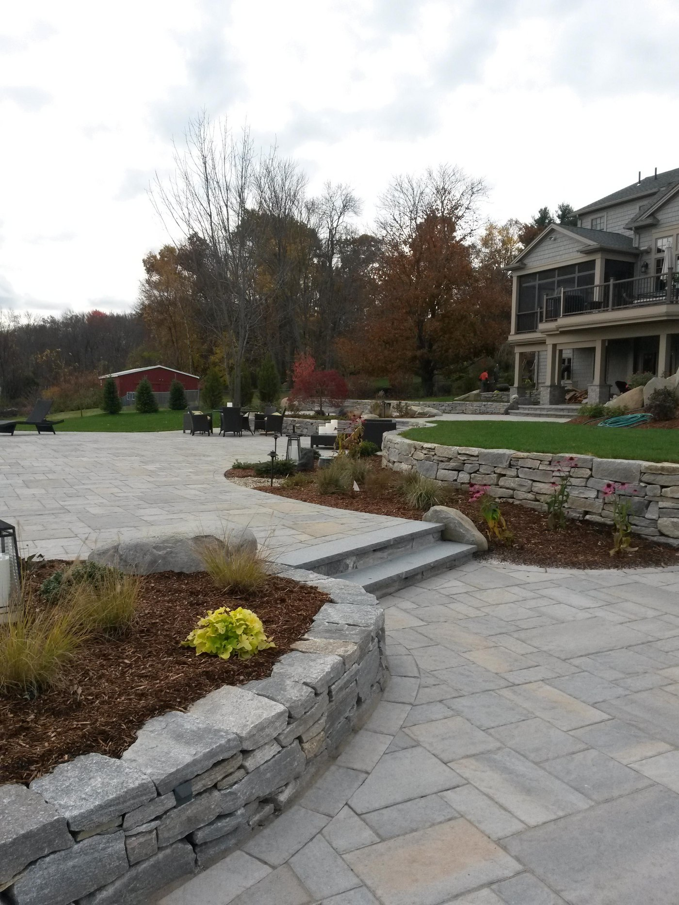 Fieldstone Walls and Steps by Bahler Brothers serving MA and CT