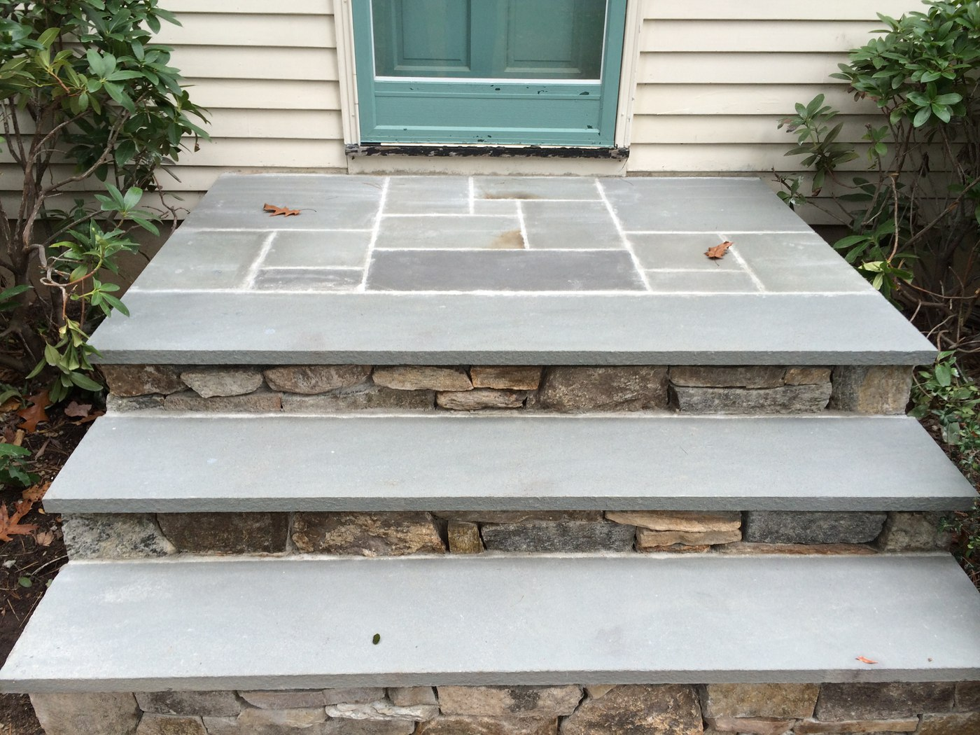 Stone Steps with Bluestone cap by Bahler Brothers in CT