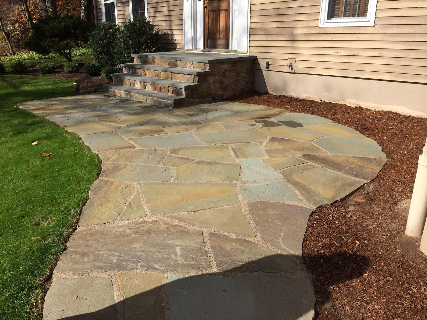 Flagstone Patio by Bahler Brothers in Simsbury, CT